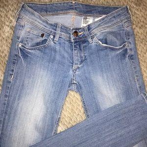 Light Blue Denim Skinny Jeans